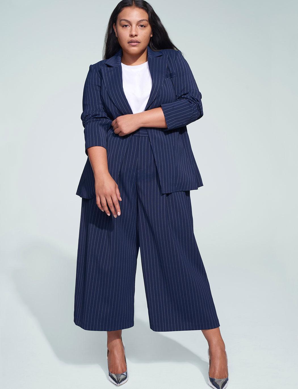 Plus Size Suits for Spring- Jason Wu x ELOQUII Pinstripe Suit