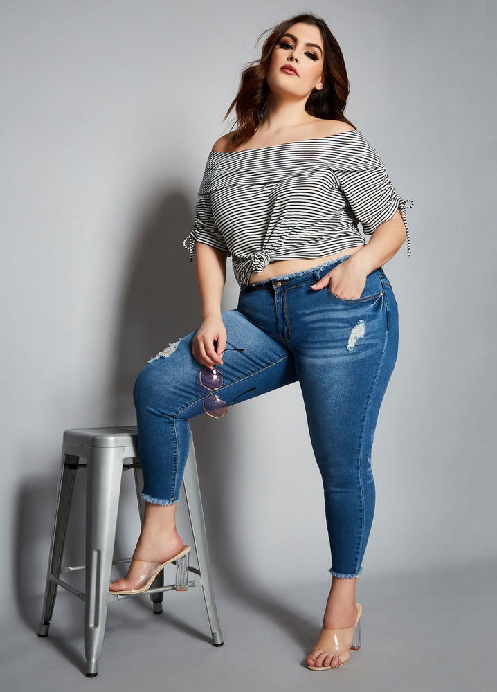 The Juliette Jean at AshleyStewart- Spring plus size favorites from Curvy Girl Collection by Ashley Stewart