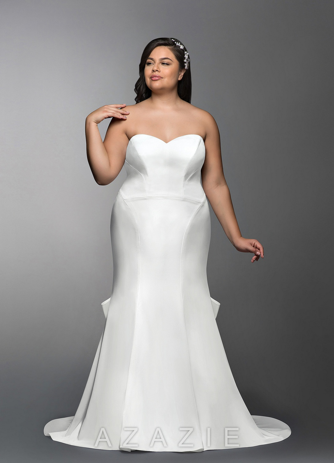 Adalia Plus Size Wedding Gown at Azazie