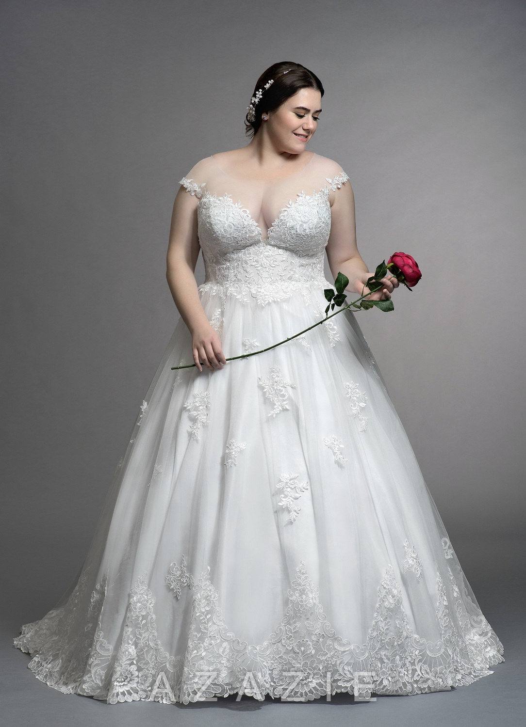 Angelique Plus Size Wedding Dress at Azazie