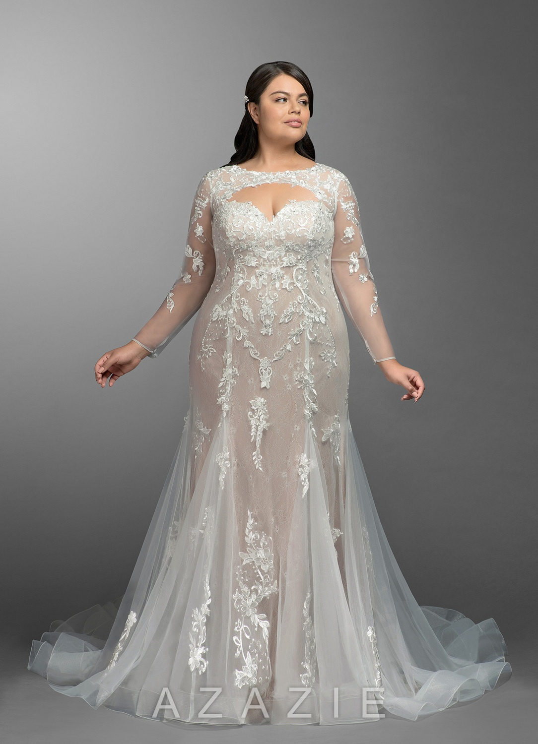 Astrid Plus Size Wedding Gown at Azazie