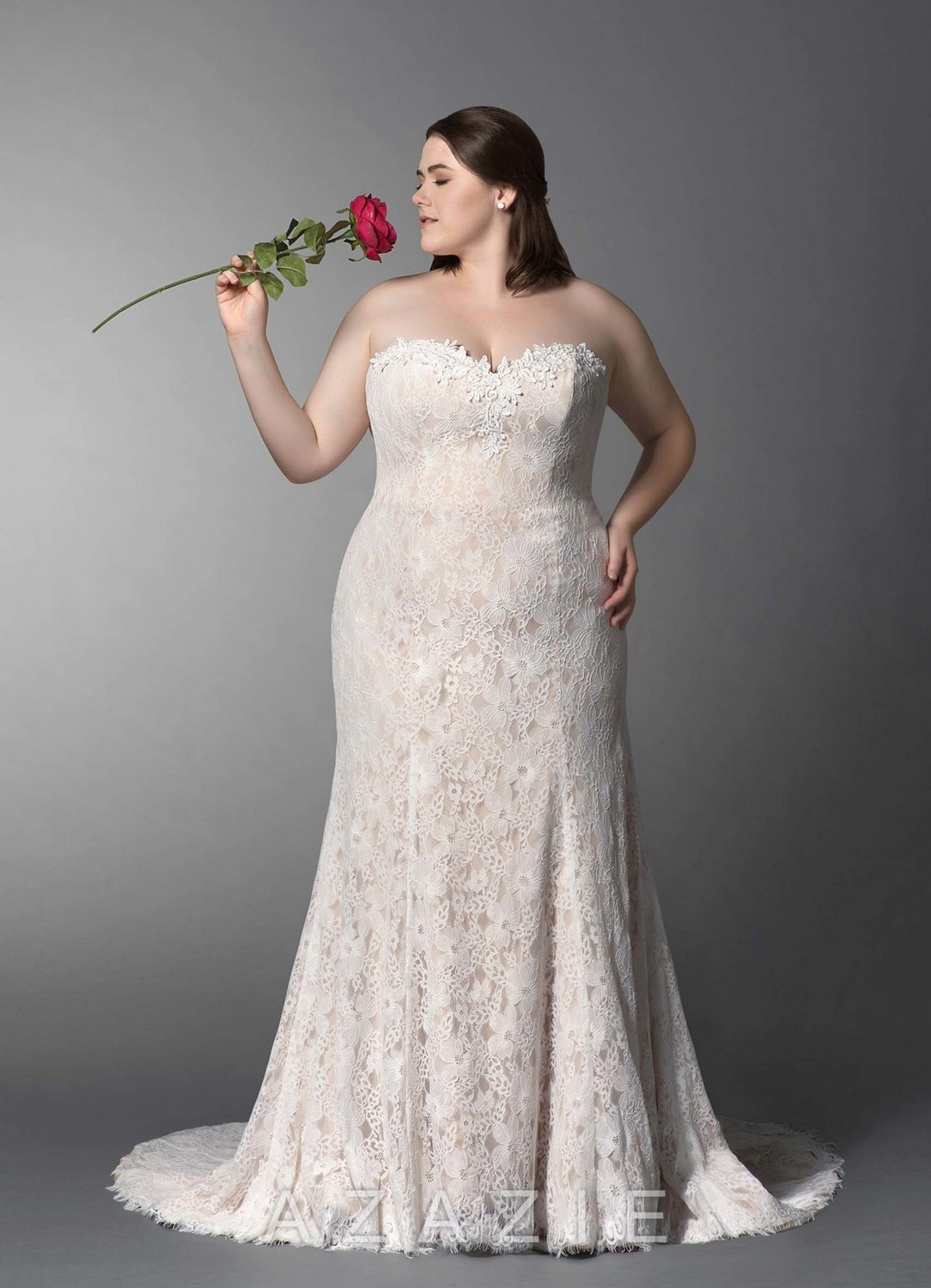 Catherine Plus Size Wedding Dress at Azazie