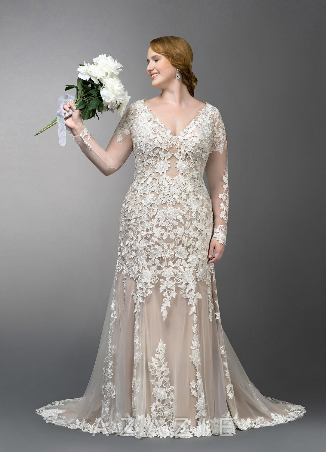 Dulce Plus Size Wedding Dress at Azazie