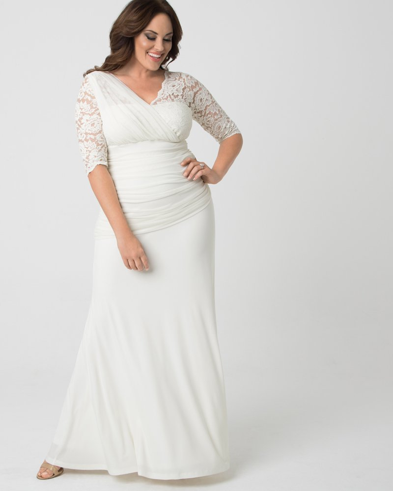 Affordable Plus Size Bridal Gowns-Elegant Aisle Wedding Gown