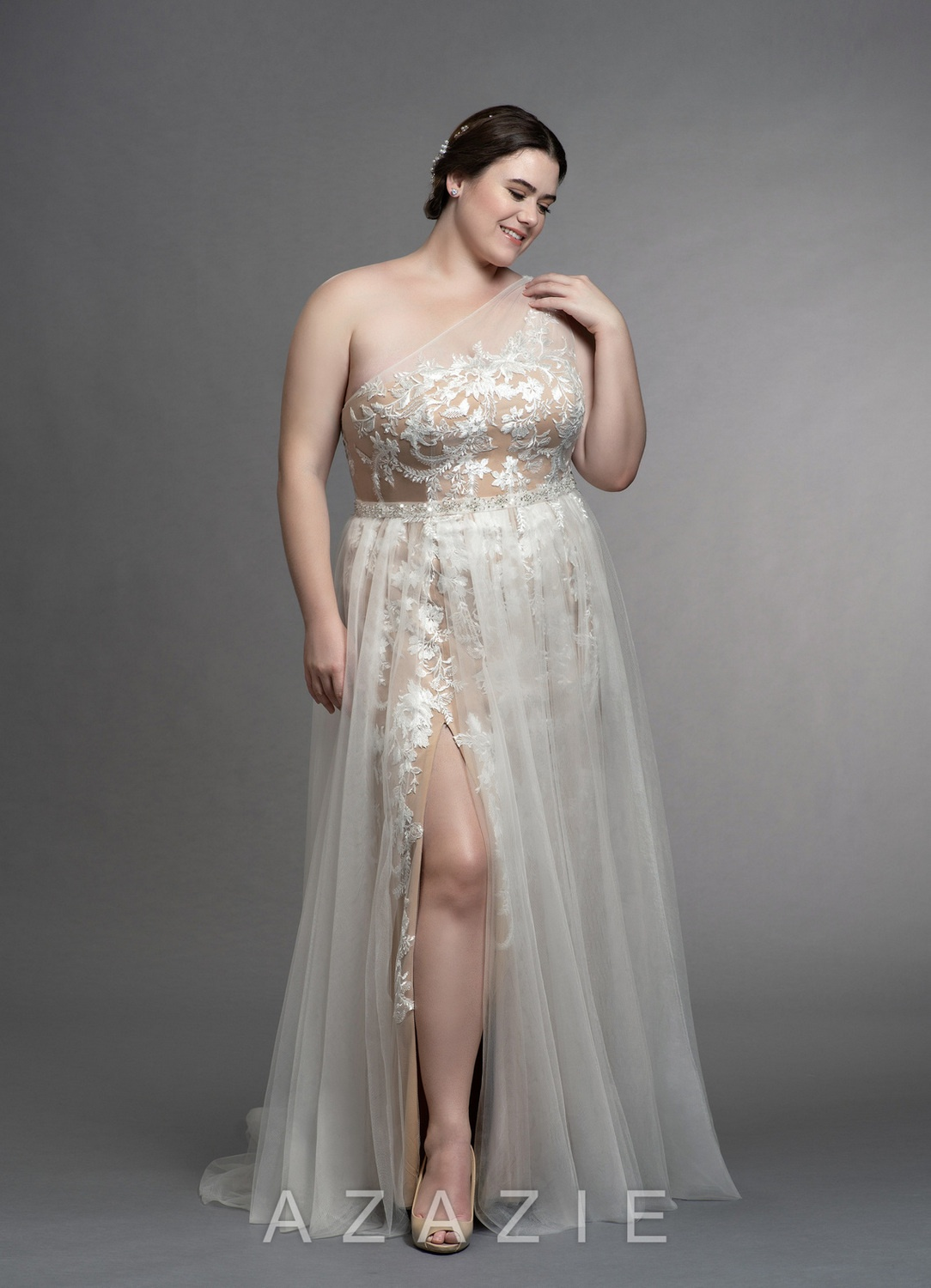 Elodie Plus Size Wedding Gown at Azazie