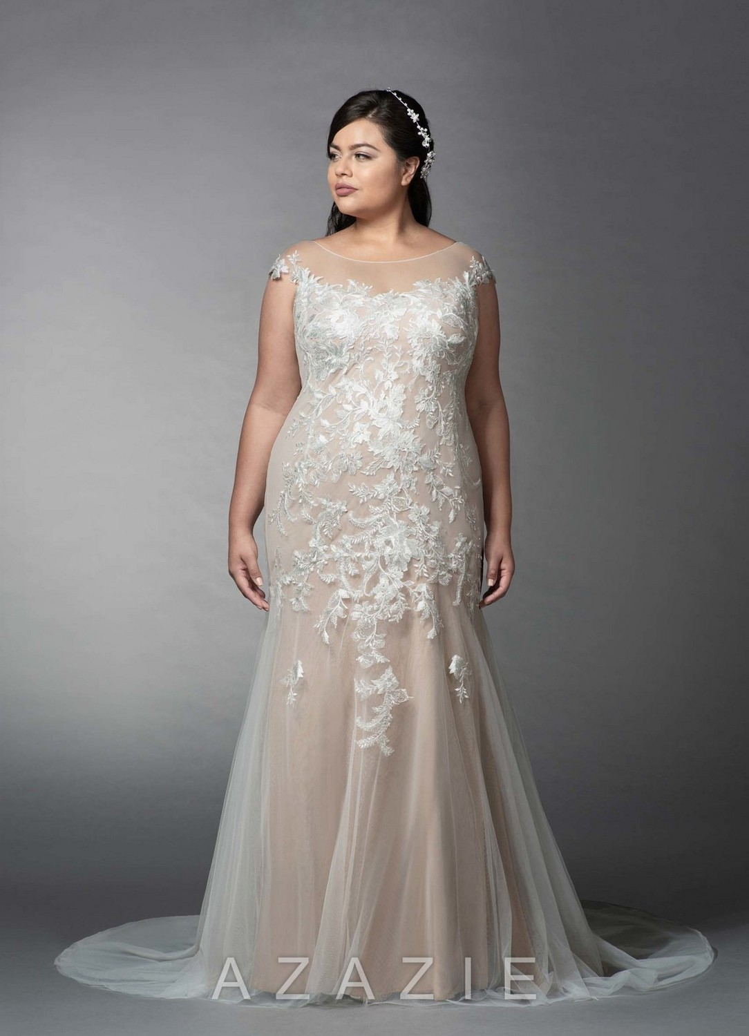 Eudora Plus Size Wedding Dress at Azazie