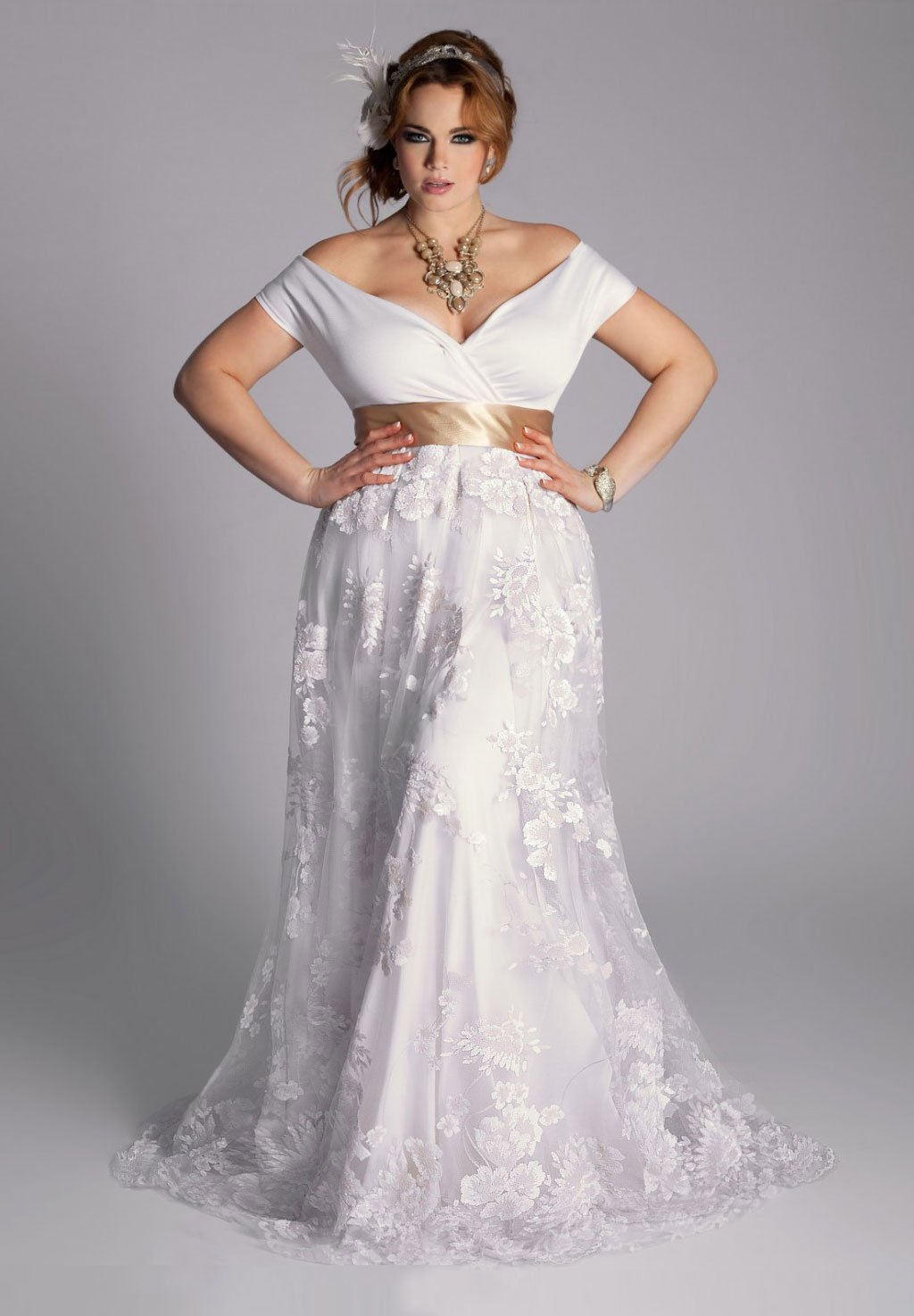 Affordable Plus Size Wedding Gowns- Eugenia Wedding Gown