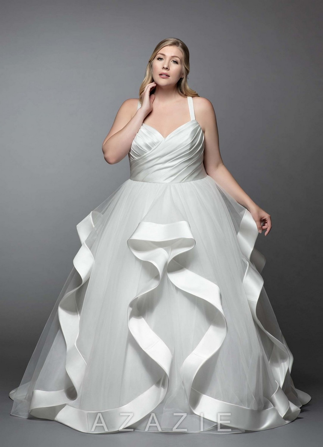 Lotus Plus Size Wedding Dress at Azazie
