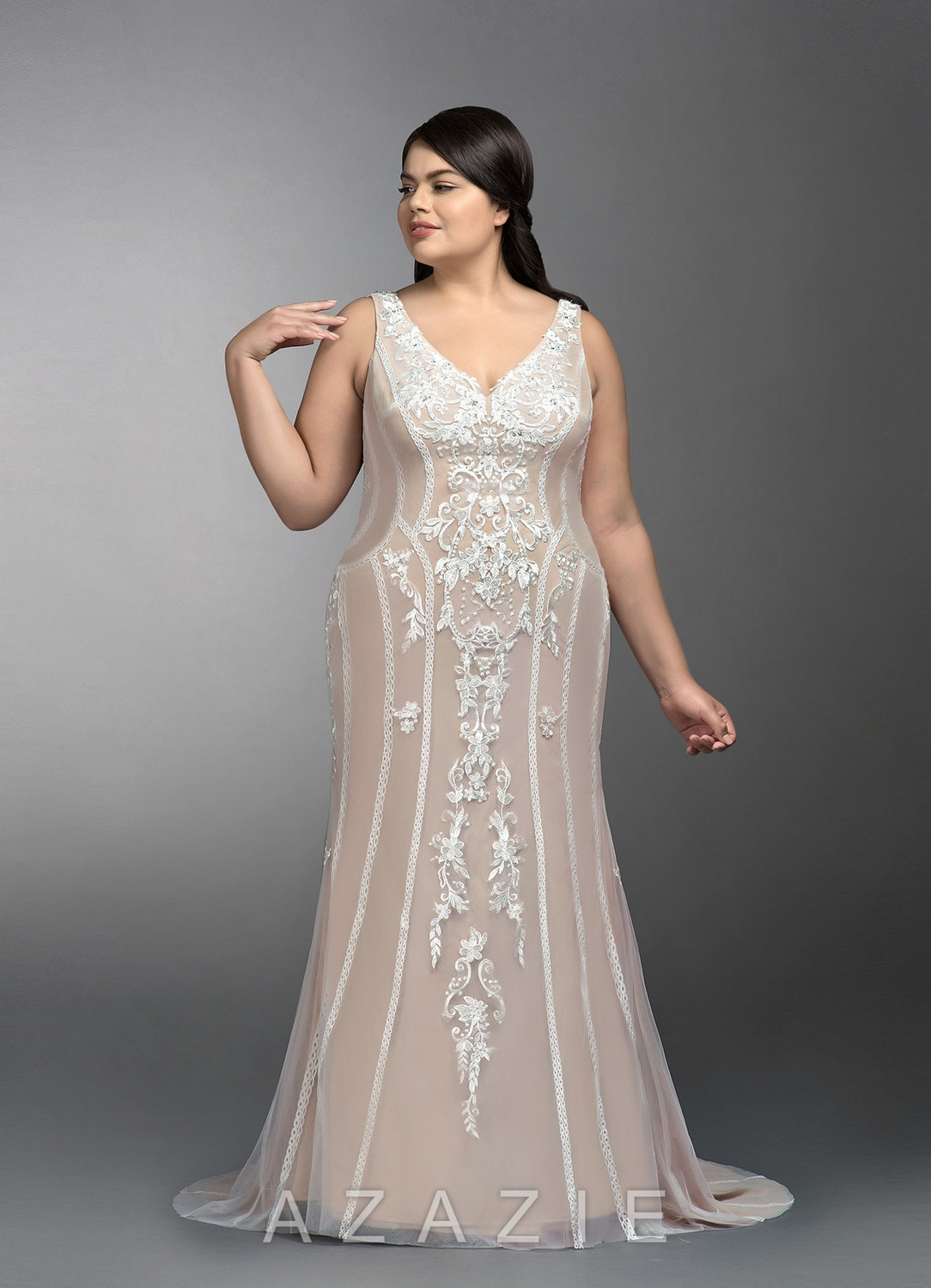 Ripley Plus Size Wedding Gown at Azazie