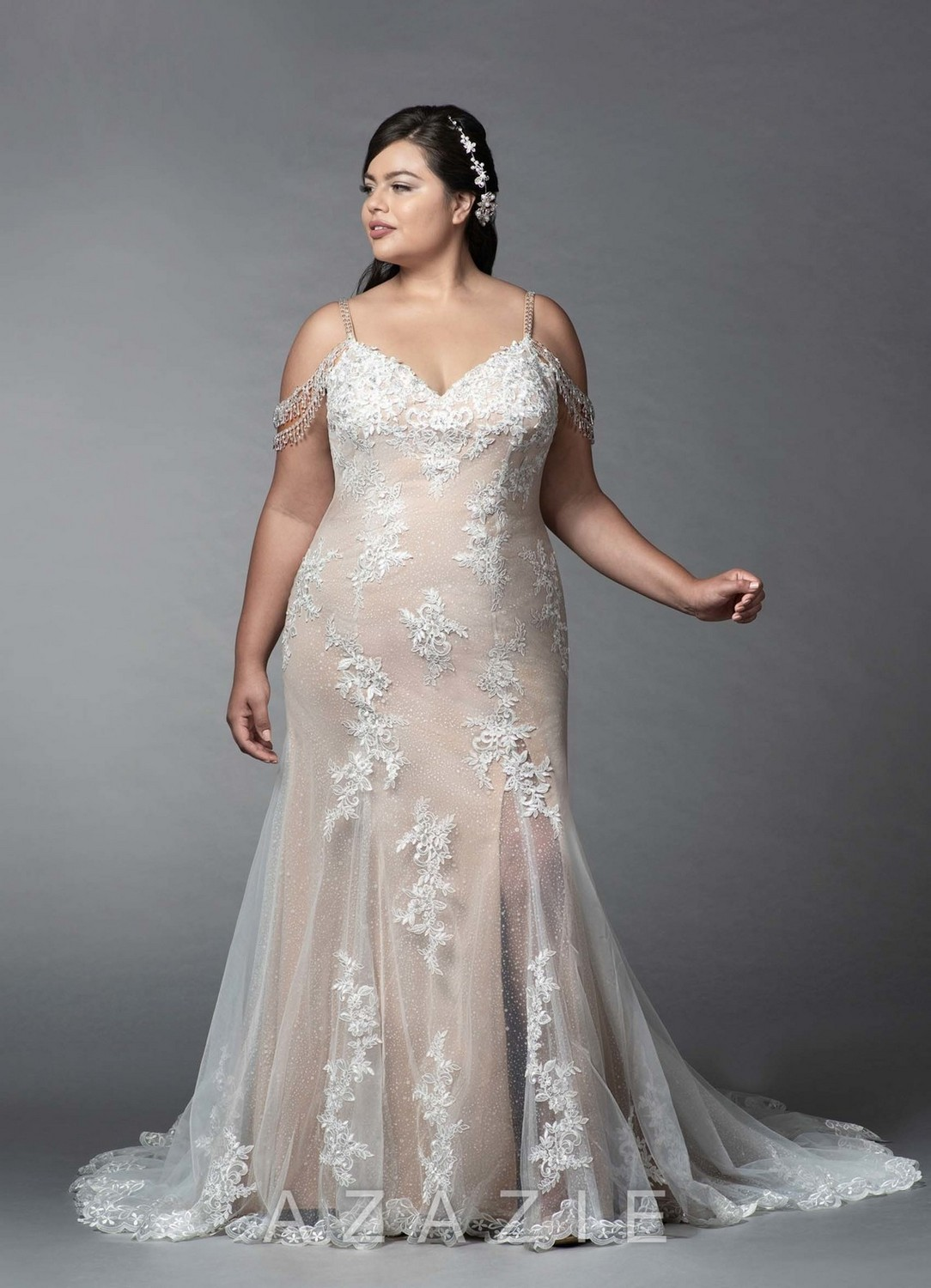 Saskia Plus Size Wedding Dress at Azazie