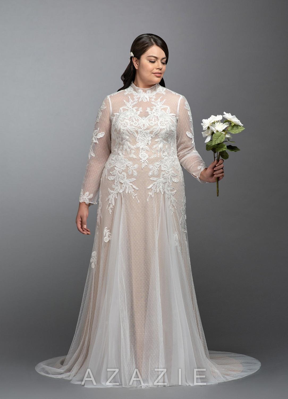 Zion Plus Size Wedding Dress at Azazie