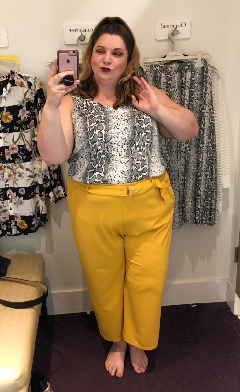 Plus size blogger, EMily Roy visits the new Addition Elle Store
