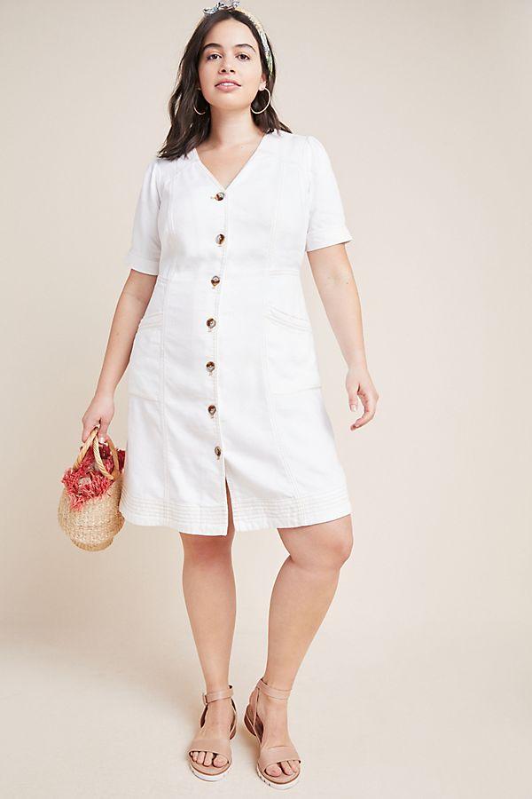 Pilcro Button-Front Dress