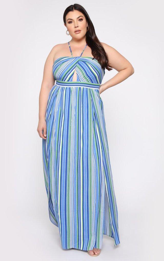 Fashion nova striped maxi