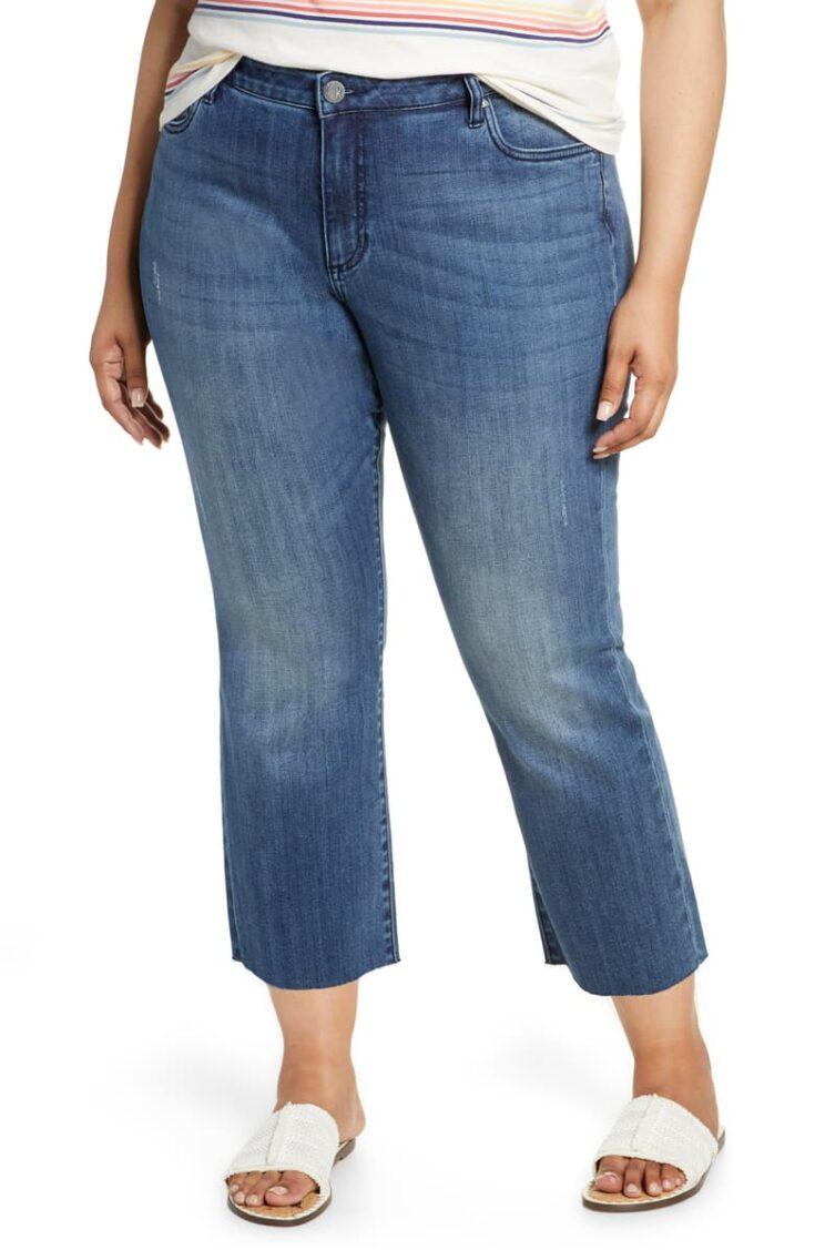 Kelsey Crop Kick Flare Jeans