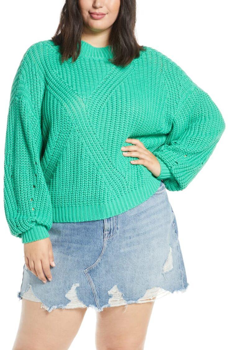 Traveling Stitch Sweater
