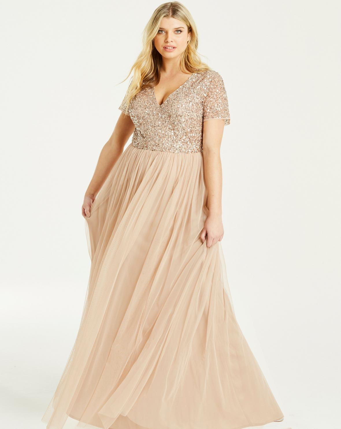 Simply Be sequined maxi