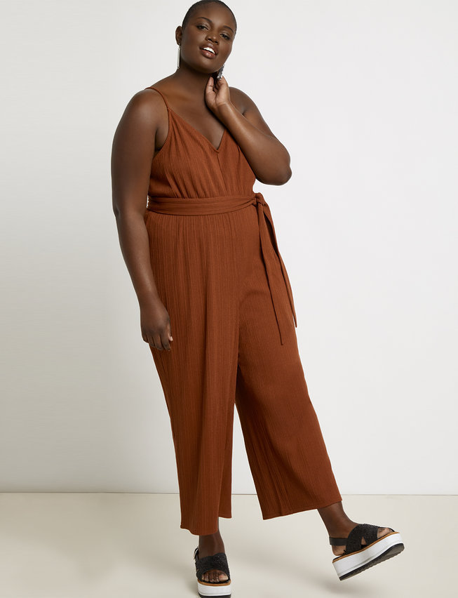 eloquii semi annual clearance- Wide Leg Jumpsuit Cover-up