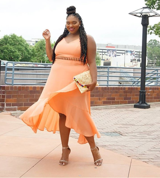 Plus Size Peach Dress