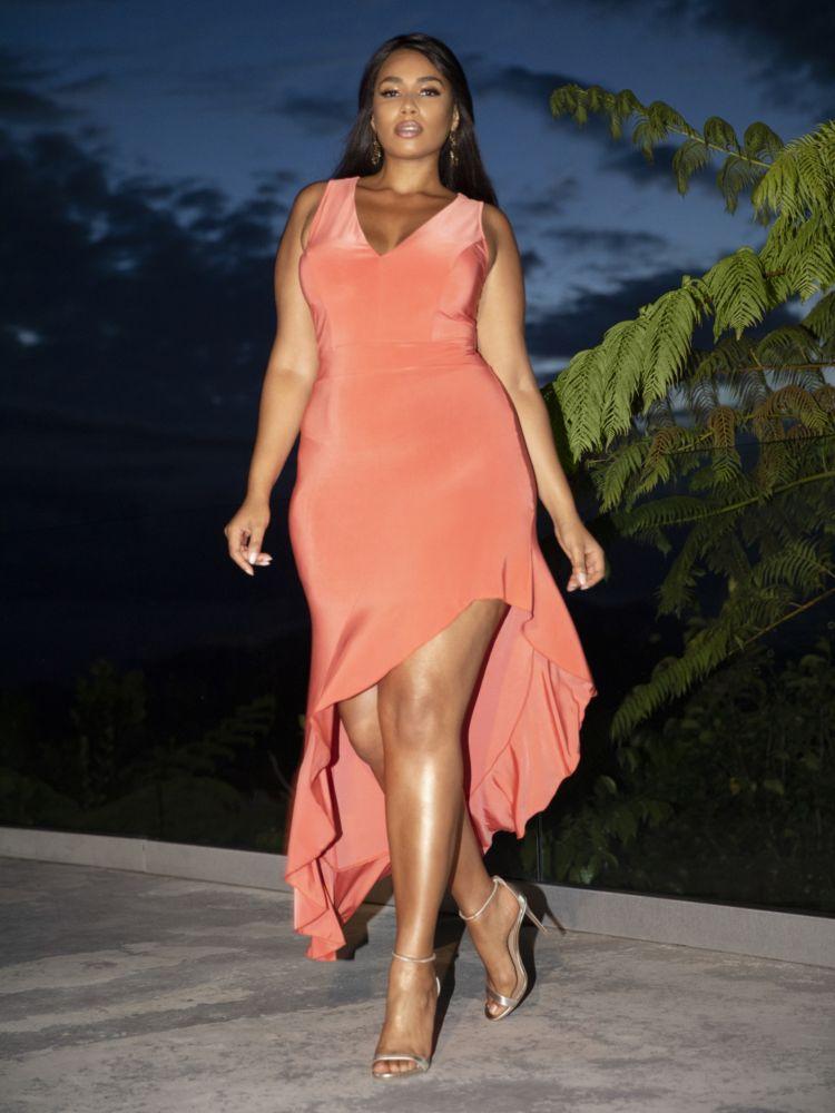 Luzena Ruffle Hem Maxi Dress