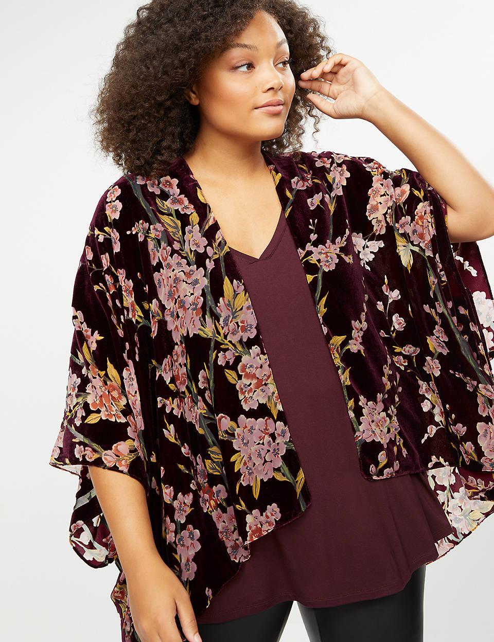 LB velvet kimono