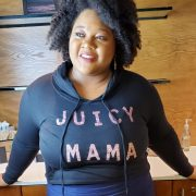 Juicy Mama plus size crop top hoodie from Plurvy