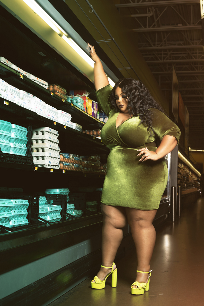 Plus size designer, Courtney Noelle Holiday 2019 Collection, Uncomfortable
