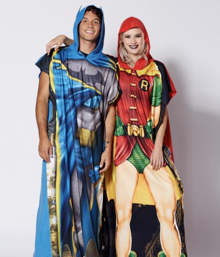 Batman and Robin Twinsie Union Suit 2 Pack