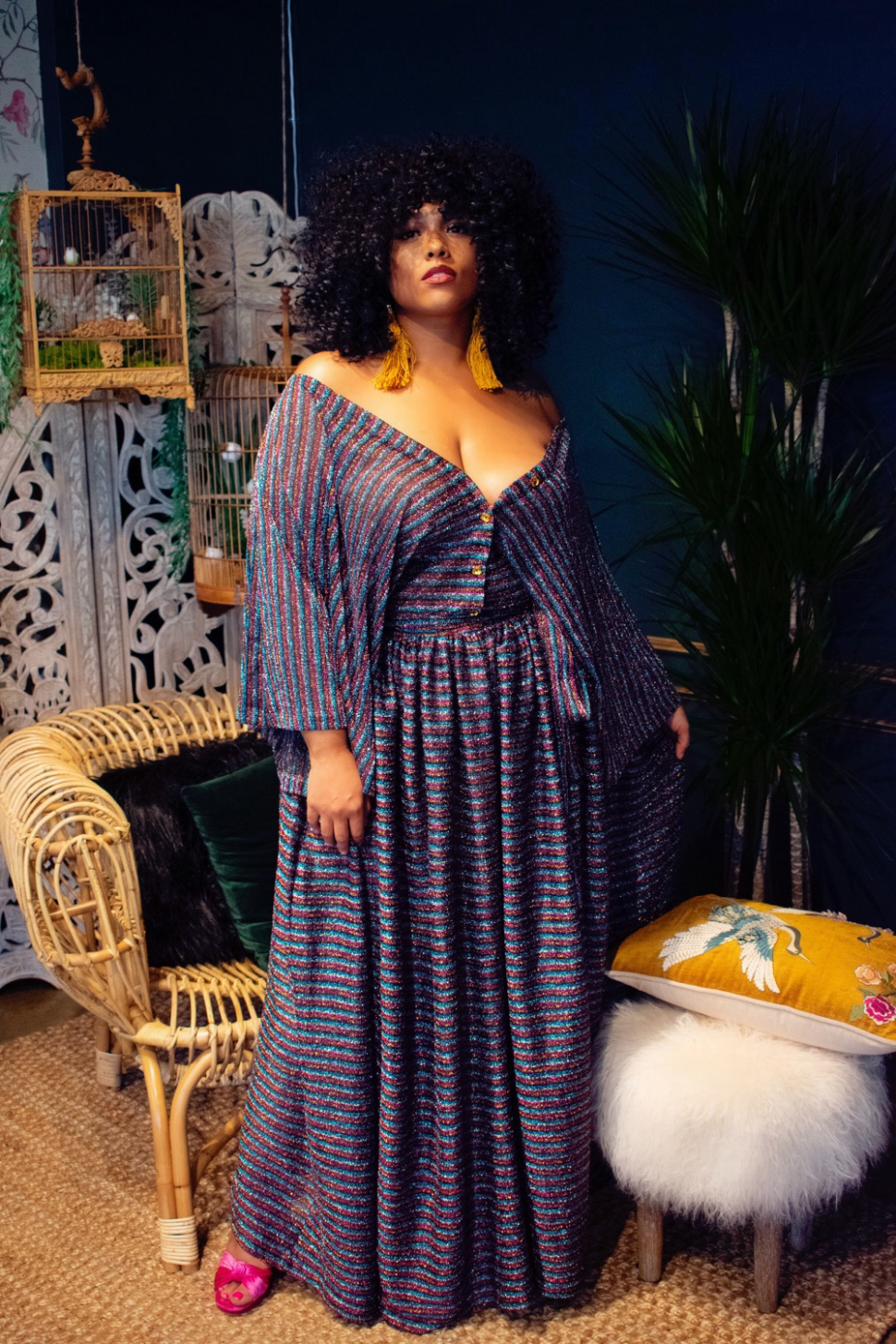 Last Dance Maxi- Inside the Zelie for She holiday 19 Collection- DIsco Fever