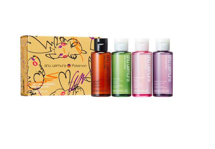 cleansing oil coffret in Pikachu-inspired gift box
