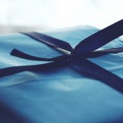 Blue present wrapping